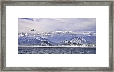 The Mediterranean Coast Framed Print