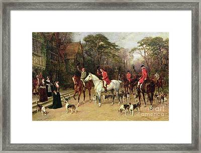 The Meet At The Manor House Framed Print