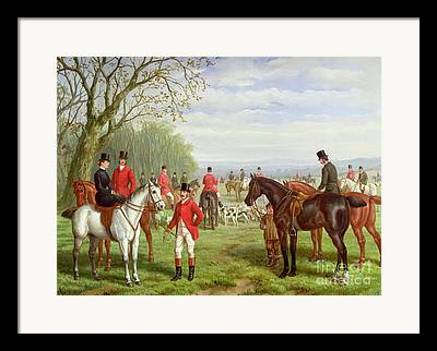 English Horse Rider Framed Prints