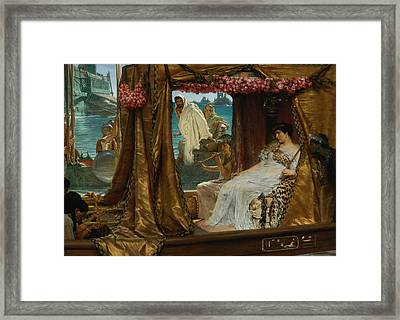 The Meeting Of Anthony And Cleopatra Framed Print by Mountain Dreams