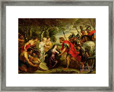 The Meeting Of David And Abigail Framed Print