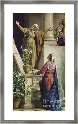 The Meeting Of Mary And Elisabeth Framed Print by MotionAge Designs