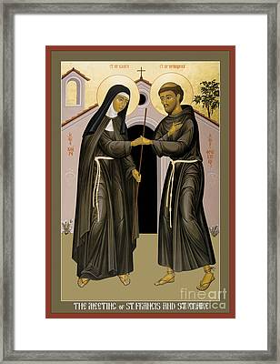 The Meeting Of Sts. Francis And Clare - Rlfac Framed Print