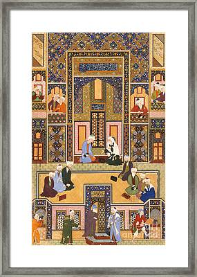 The Meeting Of The Theologians Framed Print by Abd Allah Musawwir
