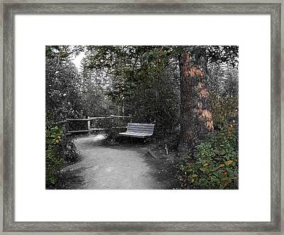 Framed Print featuring the digital art The Meeting Place by Stuart Turnbull