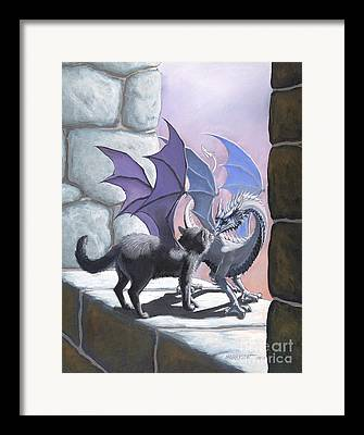 Cat Fantasy Framed Prints