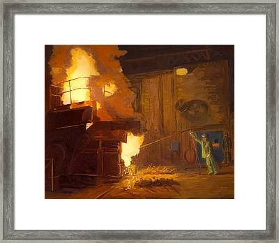 The Melter Framed Print