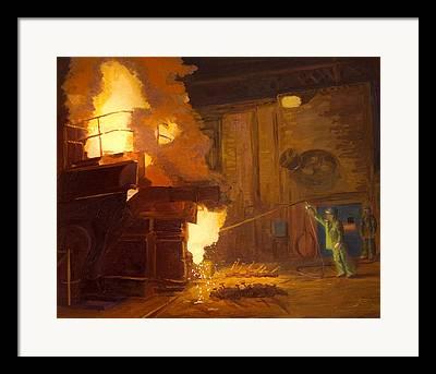 Arc Furnace Framed Prints