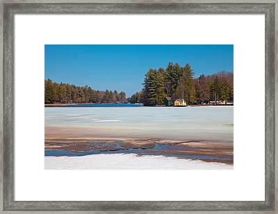 The Melting Of Old Forge Pond Framed Print