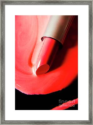 The Melting Point Of Hot Fashion Framed Print