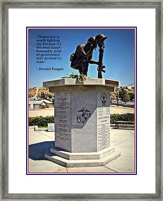 The Memorial Framed Print by Glenn McCarthy Art and Photography