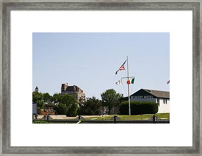 The Memory Motel And Montauk Tower Framed Print