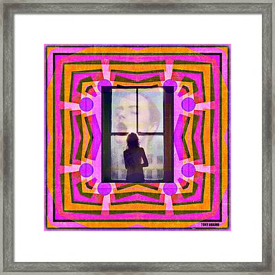 The Memory Of That Kiss Framed Print by Tony Adamo