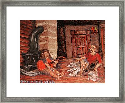 Framed Print featuring the painting The Mentor And The Student by Denny Morreale