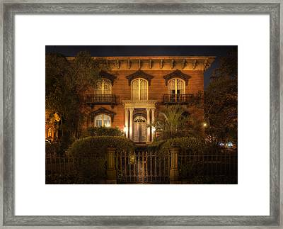 The Mercer House Framed Print