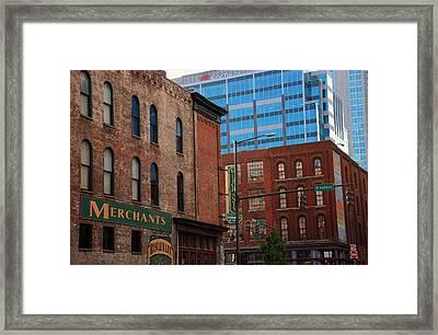 The Merchants Nashville Framed Print