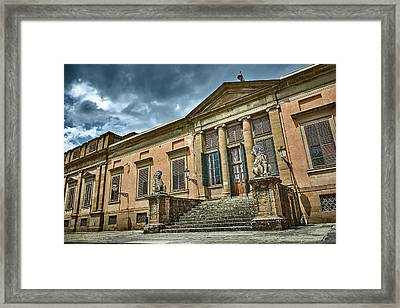 The Meridian Palace In The Pitti Palace Framed Print