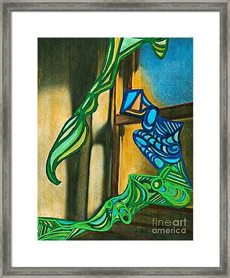 The Mermaid On The Window Sill Framed Print