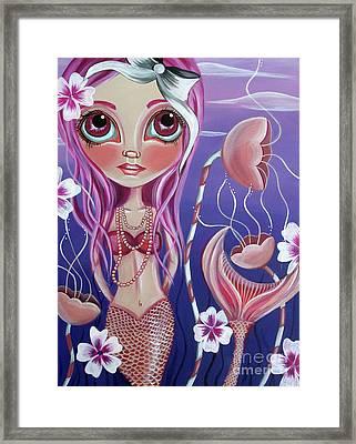 The Mermaid's Garden Framed Print by Jaz Higgins