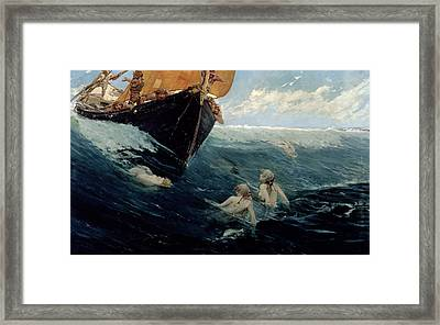 The Mermaid's Rock Framed Print by Edward Matthew Hale