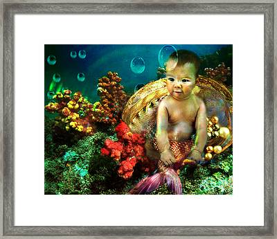 The Mermaids Treasure Framed Print