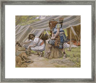 The Mess Of Pottage Framed Print