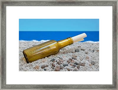 The Message Framed Print by Dan Holm