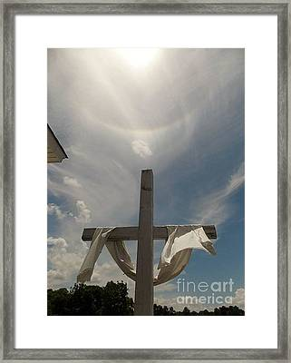 The Message Of The Cross Framed Print