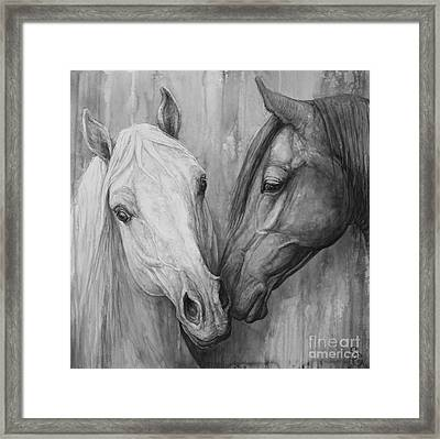 The Message Framed Print by Silvana Gabudean Dobre