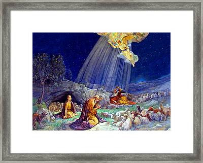The Message To Shepherds Framed Print