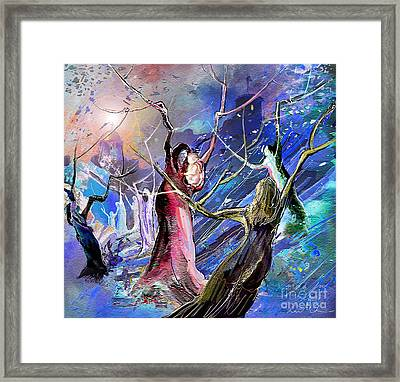 The Messiah Is Born Framed Print by Miki De Goodaboom