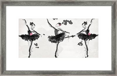 The Met Debut - Dancers In Black Framed Print