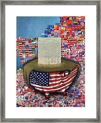 The Metling Pot Framed Print