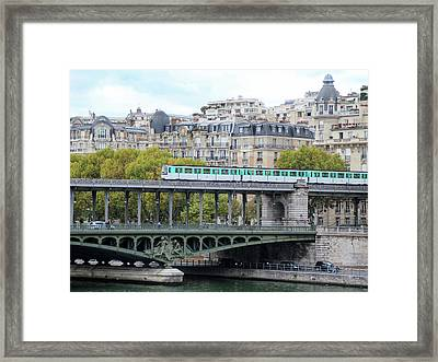 Framed Print featuring the photograph The Metro On The Bridge by Yoel Koskas
