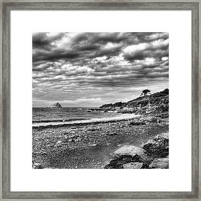 The Mewstone, Wembury Bay, Devon #view Framed Print