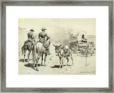The Mexican Freight Wagon  Framed Print