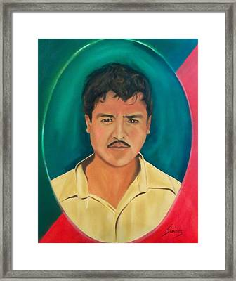 The Mexican Framed Print by Manuel Sanchez