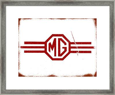 The Mg Sign Framed Print by Mark Rogan