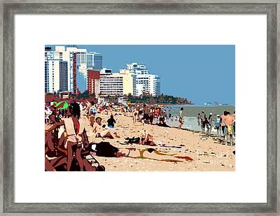 The Miami Beach Framed Print by David Lee Thompson