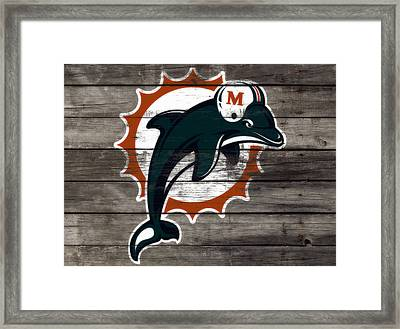 The Miami Dolphins 3e     Framed Print by Brian Reaves