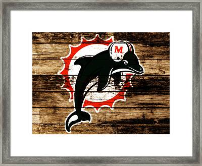 The Miami Dolphins 4a      Framed Print by Brian Reaves