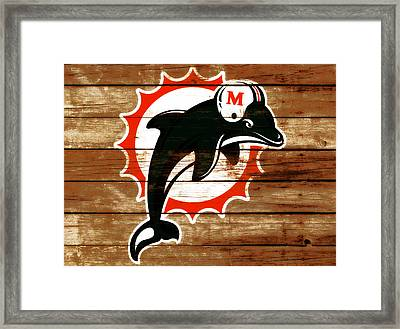 The Miami Dolphins 4j      Framed Print by Brian Reaves