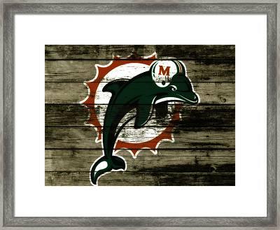 The Miami Dolphins C1      Framed Print by Brian Reaves