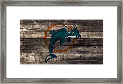 The Miami Dolphins W1 Framed Print by Brian Reaves