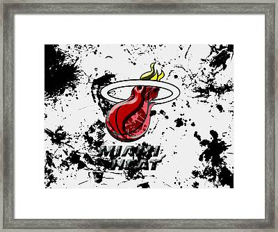 The Miami Heat 1c Framed Print by Brian Reaves