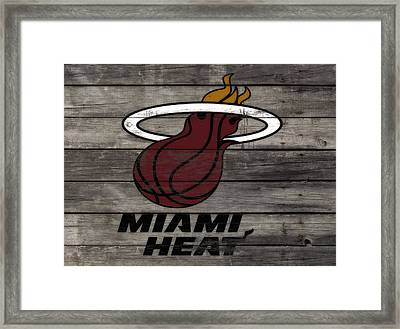 The Miami Heat 3a Framed Print