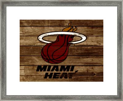 The Miami Heat 3b Framed Print