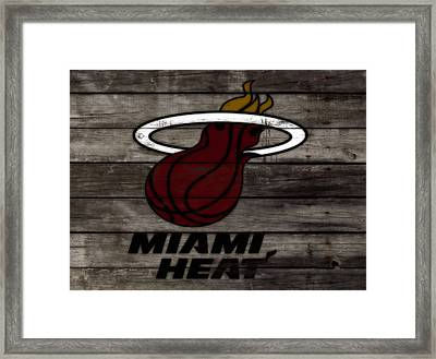 The Miami Heat 3h Framed Print