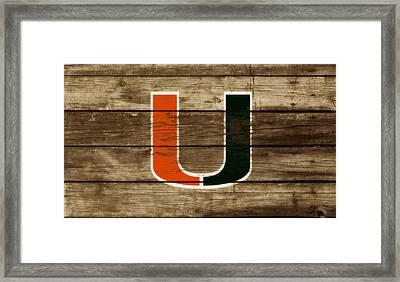 The Miami Hurricanes 3a       Framed Print