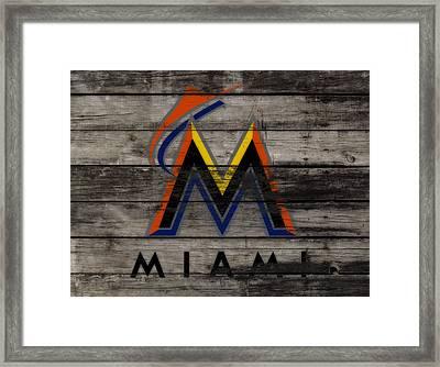 The Miami Marlins 1a Framed Print